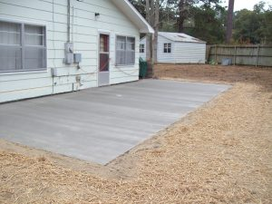 concrete patio installation wilmington nc