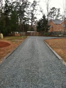 after gravel driveway installation Wilmington NC