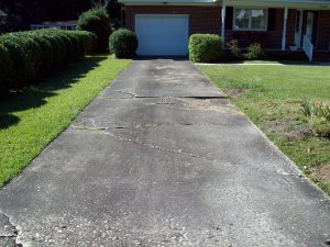 before concrete driveway removal contractor Springview, Wilmington NC After