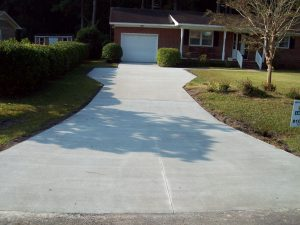 concrete driveway contractor Springview, Wilmington NC After