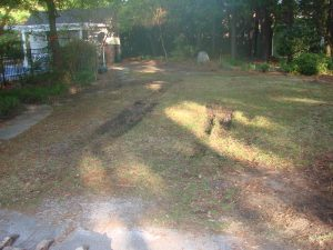 before RV Parking Pad Installed Wilmington NC