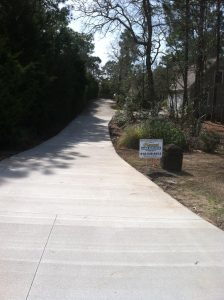 after Driveway installation Wilmington NC