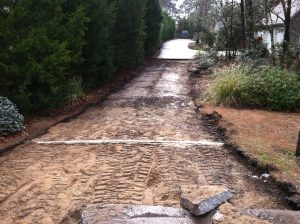 before Driveway installation Wilmington NC