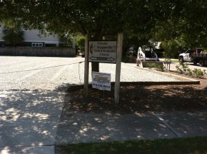 Gravel Parking Lot Installation Wrightsville Beach NC United Methodist Church After