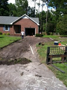 Before Concrete Driveway Installation Kings Grant, Wilmington NC