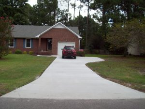 Concrete Driveway Installation Kings Grant, Wilmington NC