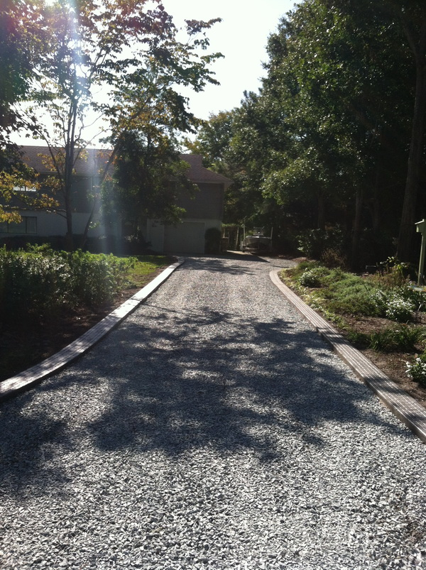 Gravel Driveway with border Wilmington NC