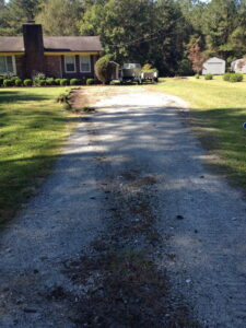 added gravel to driveway Oak Hill Wilmington NC before