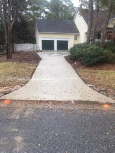 concrete driveway installation Timber lake Ogden NC After