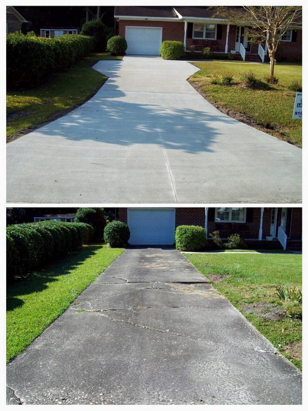 concrete driveway installation contractors wilmington nc