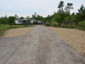 gravel road building contractor godfrey creek hampstead wilmington nc after