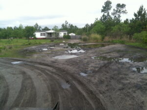 gravel road building contractor godfrey creek hampstead wilmington nc before (1)