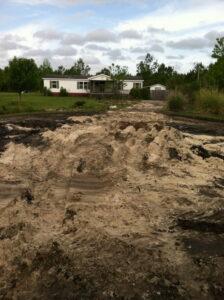 gravel road building contractor godfrey creek hampstead wilmington nc during base