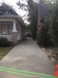 sidewalk driveway installation service ann st wilmington nc after (1)