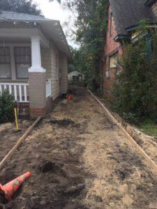 sidewalk driveway installation service ann st wilmington nc before (2)